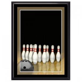 Plaque Murale Bowling Noire