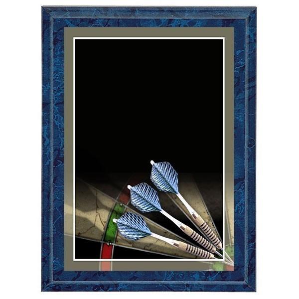 Plaque Murale Darts Bleu