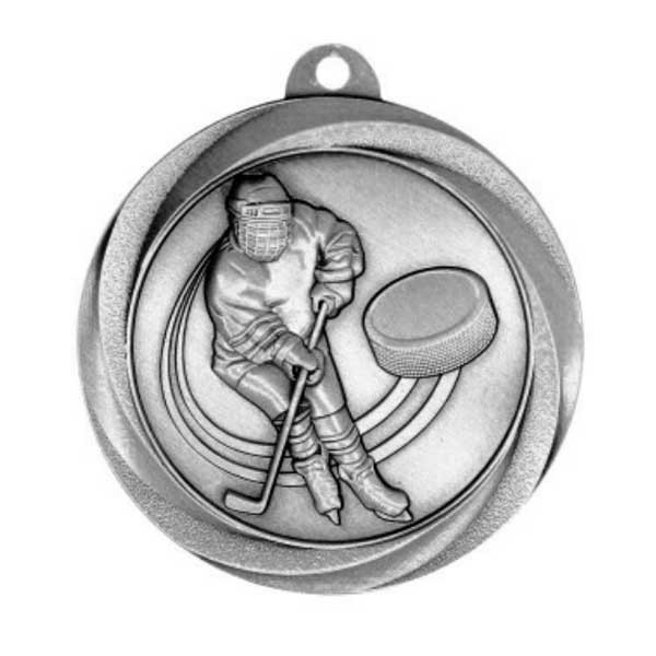 Médaille Argent Hockey 2 po MSL1010S