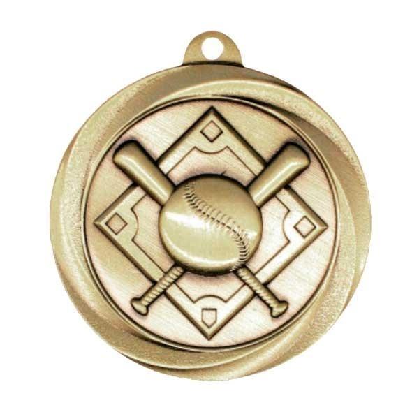 Médaille Or Baseball 2 po MSL1002G