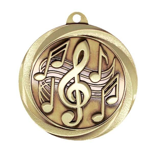 Médaille Or Musique MSL1030G