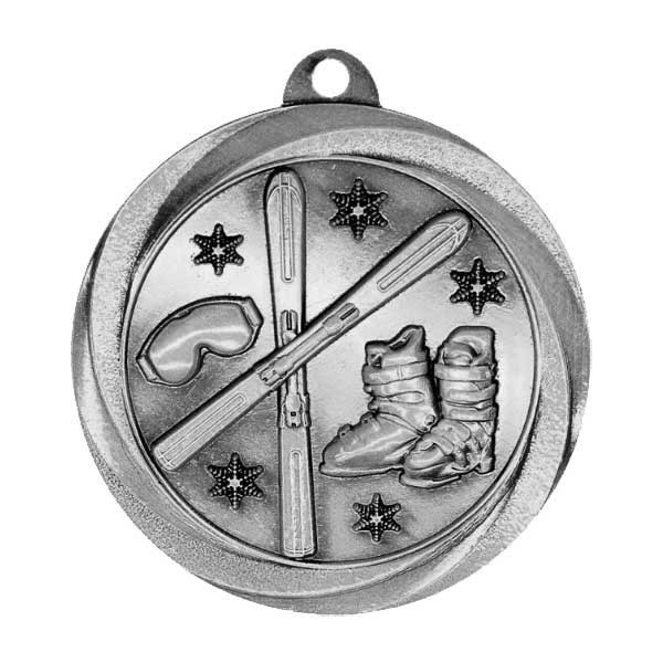 Skiing Silver Medal MSL1082S