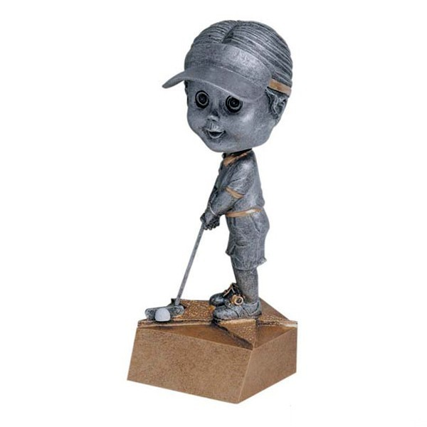 Women's Bobblehead Golf Trophy BH-547
