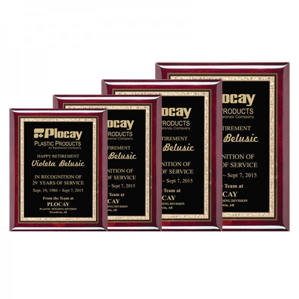 Recognition Plaque PPF560-GOLD-SIZES