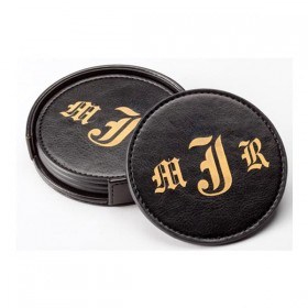 Leatherette Coaster Set LG43-K